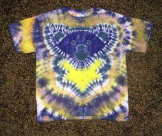 Medium Kids Tie Dye Grateful Dead Bear T Shirt by TieDyeDesignsbyTree on Etsy