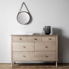Taking inspiration from the best Scandinavian designs of the 19th Century, this furniture has a real contemporary feel.  Made from a combination of the finest solid Oak and veneers, it creates a modern aesthetic colour palette that is the essence of Nordic style. Legs require attaching to base.