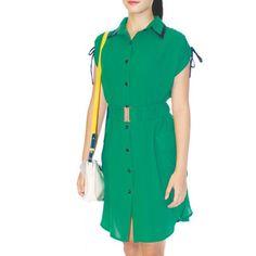 Fresh Emerald Green Comfy Shirt Dress on Carousell