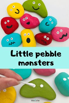 Little pebble monsters | Fun Kids Craft | Rock Painting Ideas