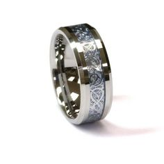 Amazon.com: 8Mm Silver Celtic Dragon Tungsten Carbide Ring Men Jewelry Wedding Band All Size: Jewelry