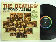 The Beatles Second Album MONO T 2080 Capitol Rainbow Label LP Vinyl Record