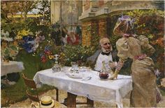 Cafe in Paris - Joaquín Sorolla - Completion Date: 1885