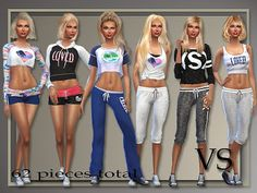 My Sims 4 Blog: Victoria Secrets Inspired Athletic Separates and S...