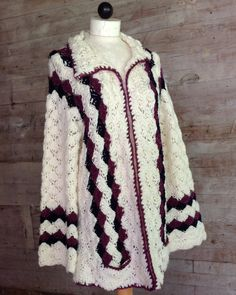 Picture of Shell Sweater Jacket Crochet Pattern