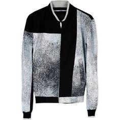 Kenzo Jacket ($740) ❤ liked on Polyvore featuring men's fashion, men's clothing, men's outerwear, men's jackets, men, grey, mens leopard print jacket, mens zip up jackets, mens jackets and mens grey jacket