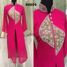 Pure zardosi work and front slit style , makes it a complete classy outfit for any occasion
