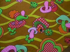 Psychedelic mushroom print... That Seventies Apron...And That Other Seventies Apron...And...