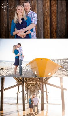 Tim and Laurens Engagement- Newport Beach, CA, New York City, The Big Apple, Out of State engagement, destination wedding photographers, she said yes, cute couples, the beach, sand, waves, yellow boat, pier, under the boardwalk, sunset, love, family, newborn, and wedding photographers in Orange County, June Wedding, Summer, May engagement, engagement outfits, Engagement Locations, casual, what wear, GilmoreStudios.com