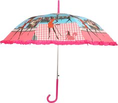 HOU-DY My Style Auto Open Frill Purple Umbrella # Multi Color # Printed # Polyester