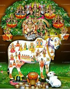 Kuber Lakshmi & Kamadenu Blessings - Another! Lord Ganesha Paintings, Lord Shiva Painting, Hare Krishna, Lord Murugan Wallpapers, Saraswati Goddess, Goddess Art, Shiva Parvati Images, Shiva Linga, Shiva Shakti