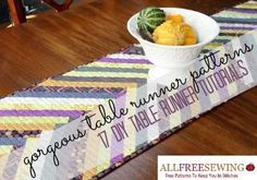 Ideas for Your Kitchen  http://www.allfreesewing.com/Dining-and-Kitchen/Gorgeous-Table-Runner-Patterns-DIY-TableRunner-Tutorials