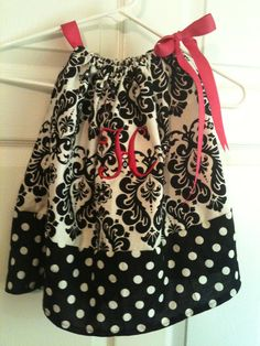 Handmade Pillowcase dress. Comes in all sizes from Newborn to size 8 youth.. $25.00, via Etsy.