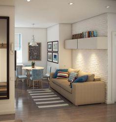 Интерьер маленькой квартиры: фото 64 вариантов дизайна