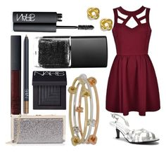 """Graduation Outfit"" by sgcrane ❤ liked on Polyvore featuring Ally Fashion, Touch Ups, Oasis, Giani Bernini, Hint of Gold and NARS Cosmetics"