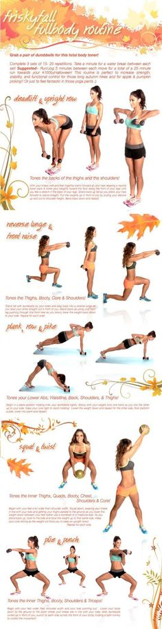 Tone it Up Frisky Fall Full Body Workout Sport Fitness, Fitness Diet, Health Fitness, Health Exercise, Workout Fitness, Tone It Up, Weight Lifting, Weight Loss, Lose Weight