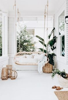 7 Boho Ideas for Outdoor Spaces (Big and Small)! (my scandinavian home)- 7 Boho Ideas for Outdoor Spaces (Big and Small)! (my scandinavian home) 7 Boho Ideas for Outdoor Spaces (Big and Small)! Home Living, Living Spaces, Living Rooms, Small Living, Sweet Home, Deco Design, Design Design, Small Patio, Small Sunroom