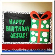 Happy Birthday Jesus Classroom Bulletin Board #Religious #Sunday School