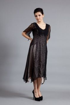 Romantic Flutter Sleeve Gown