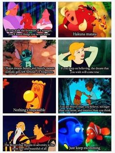 Disney pictures for the {ART} of learning: THEMEssage