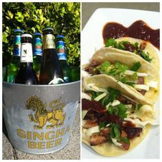 TIGER TACO TRIO - beef, chicken, and pork mini tacos with our tiger's cry, bbq sauce, and thai chili salsas!   www.ayaraproducts.com