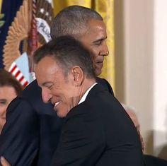Président Obama et Bruce Springsteen, remise de la médaille de la Liberté