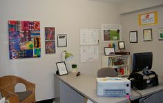 Colourful and tidy office ready for our Open House/Art Drop-in!
