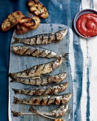 Grilled sardines - skip the bread though.
