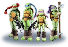 TMNT GIRLS 2012 by propimol.deviantart.com on @deviantART   I'm so Female Raph, my hair is really thick and long like that.