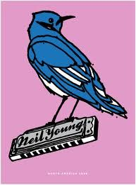Neil Young tour poster, 2008