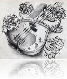 guitar tattoo drawing tattoo ideas pinterest guitar tattoo and tattoo. Black Bedroom Furniture Sets. Home Design Ideas