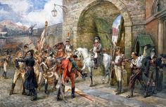 An incident in the Peninsular War: Napoleon entering a City, 1808