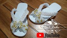 Youtube, Flip Flops, Sneakers, Shoes, Women, Fashion, Flip Flop Decorations, Crystals, Rock