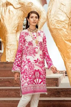 This season, Ethnic by Outfitters Festive Collection 2018 flutters between traditional fantasy and classicism. You will be maharani in your own when you will go to attend any Eid party wearing any number from this summer lawn collection. Eid Party, Party Wear, Eid Collection, Ethnic, Sari, Chiffon Dresses, Glamour, Seasons, Pakistani