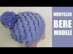 MİDYELER BERE MODELİ - YouTube Knitting Videos, Crochet Videos, Knitting Stitches, Knitting Patterns, Baby Hats Knitting, Crochet Baby Hats, Knit Crochet, Knitted Booties, Knitted Hats