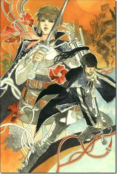 Shin Megami Tensei IV artwork by Tomomi Kobayashi.