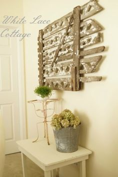 Gorgeous garden gate art by White Lace Cottage