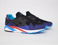 #Asics Gel Kayano Trainer Black/Blue #sneakers