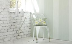 Striped wallpapers from Makela Wallcoverings perfect for hallways.