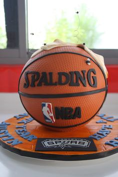 Celebrate with Cake!: Basketball Cake with Socks basketball birthday party nba youngboy quotes Basketball Party, Basketball Cookies, Basketball Posters, Basketball Design, Basketball Workouts, Basketball Shirts, College Basketball, Fondant Cakes, Cupcake Cakes