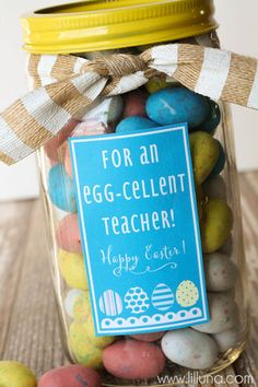 Easter teacher appreciation tags appreciation easter and teacher cute and simple teacher gift idea for easter negle