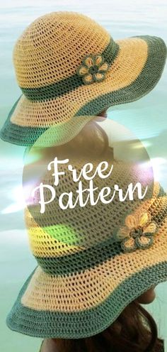 Pattern Crochet summer hat #summerhat #hat #hatcrochet