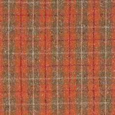 Indian Tan and Mandarine Orange Tartan Plaid Wool Blend - Fashion Fabrics