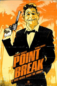 An alternative movie poster for the film Point Break, created by Salvador Anguiano, featured on AMP. Point Break Movie, Point Break 1991, Movies Point, Good Movies, Video Game Posters, Best Movie Posters, Movie Poster Art, Movies And Series, Movies And Tv Shows