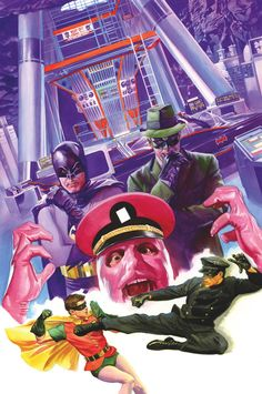 BATMAN '66 MEETS THE GREEN HORNET #3 Written by KEVIN SMITH and RALPH GARMAN Art by TY TEMPLETON Cover by ALEX ROSS On sale AUGUST 6 • 32 pg, FC, 3 of 6, $2.99 US • RATED E DIGITAL FIRST Robin and Kato…hostages of The Joker and General Gumm?! Even worse, the kidnapped crime fighters are forced into a battle to the death by the Dastardly Duo. With their purloined partners in peril, Batman and the Green Hornet have no choice but to work together.