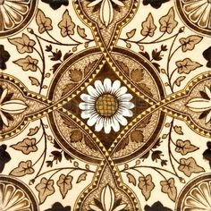 An original Victorian aesthetic period tile c1880