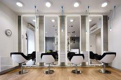 Salon fryzjerski z industrialnym akcentem - Architektura, wnętrza, technologia, design - HomeSquare