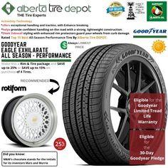 Goodyear EAGLE EXHILARATE All Season Performance Tire 245/35ZR18 XL 92Y Rotiform Wheels Goodyear Eagle, Service Map, Performance Tyres, Wheels, Seasons, Seasons Of The Year