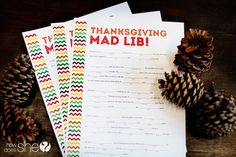 Thanksgiving Mad Lib – Exclusive Free Printable! So much fun for around the table!