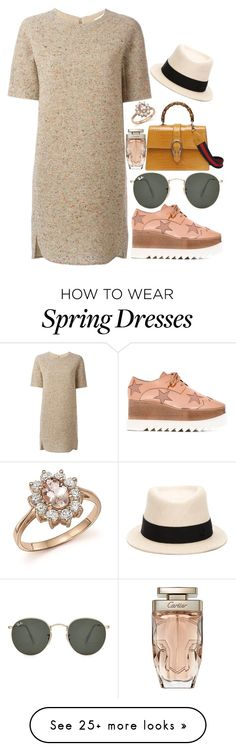 """beigix"" by blueberry-bird97 on Polyvore featuring STELLA McCARTNEY, Chloé, Ray-Ban, Cartier, Bloomingdale's and Maison Michel"